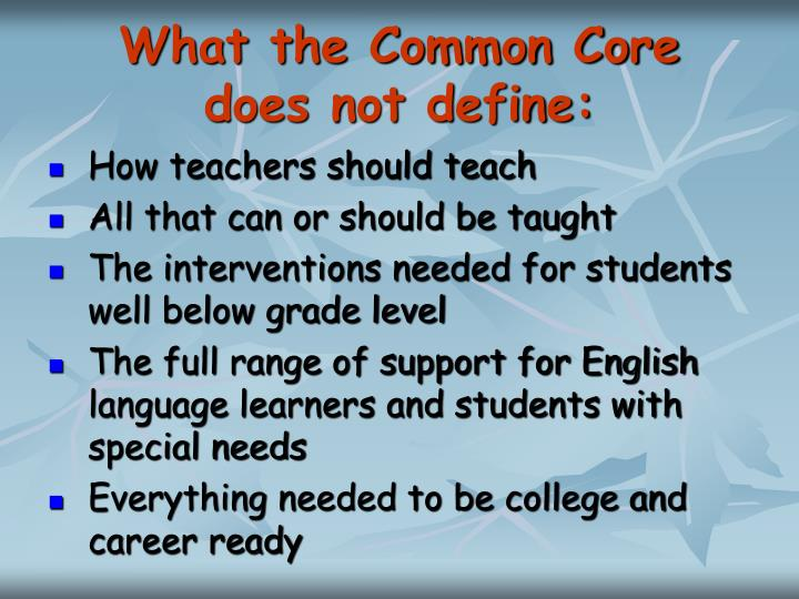 What the Common Core