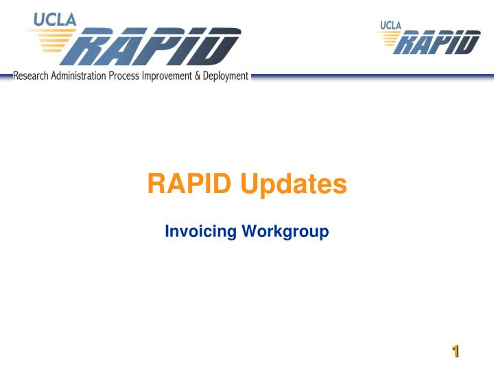 Rapid updates invoicing workgroup