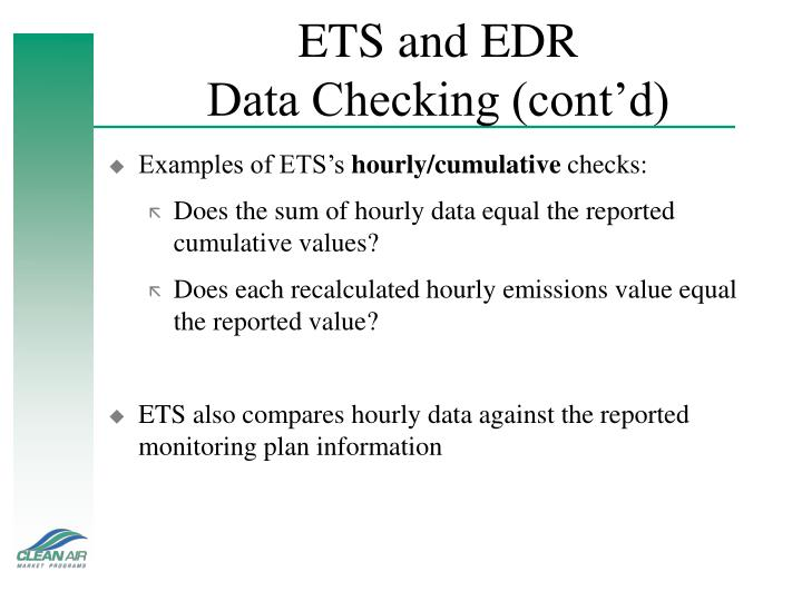ETS and EDR