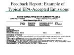 feedback report example of typical epa accepted emissions