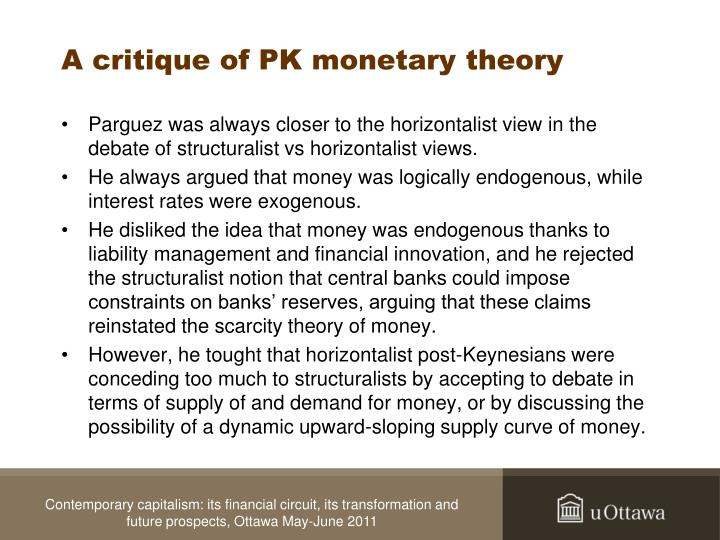 A critique of PK monetary theory