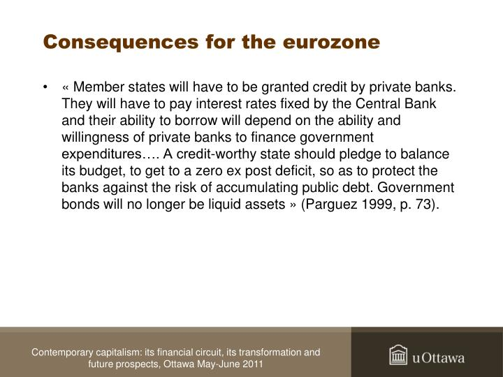 Consequences for the eurozone