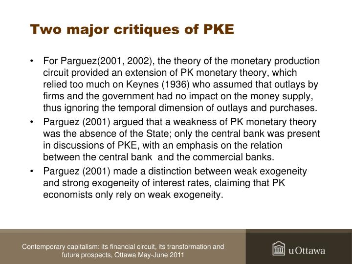 Two major critiques of PKE