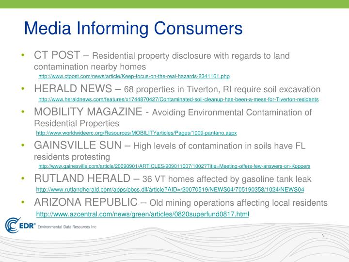 Media Informing Consumers