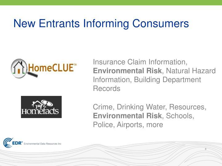 New Entrants Informing Consumers