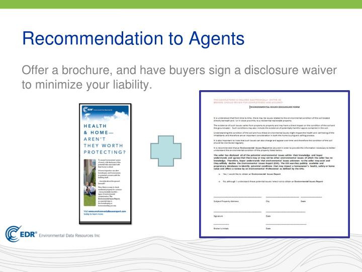Recommendation to Agents