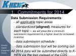 1 commitments for 2014