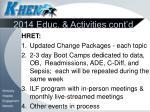 2014 educ activities cont d1