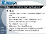 2014 education and activities