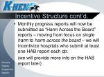 incentive structure cont d