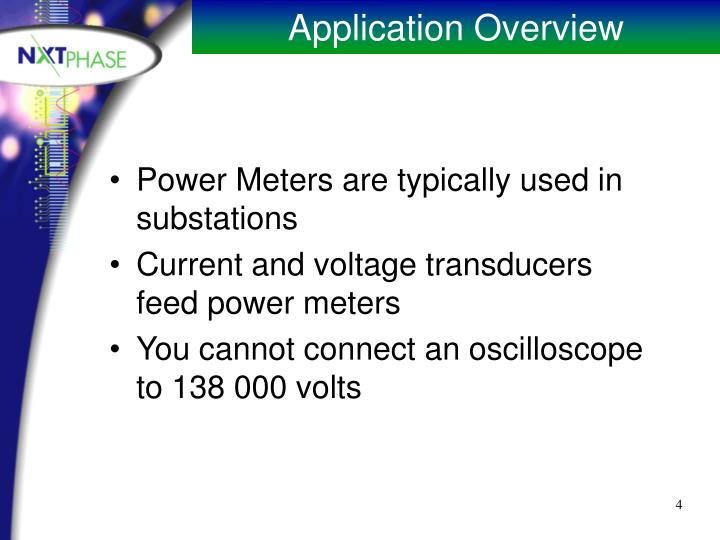 Power Meters are typically used in substations