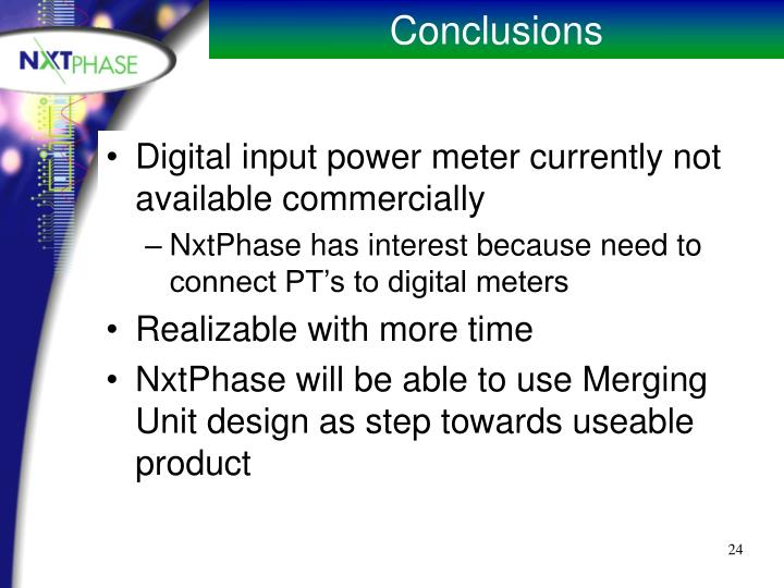 Digital input power meter currently not available commercially