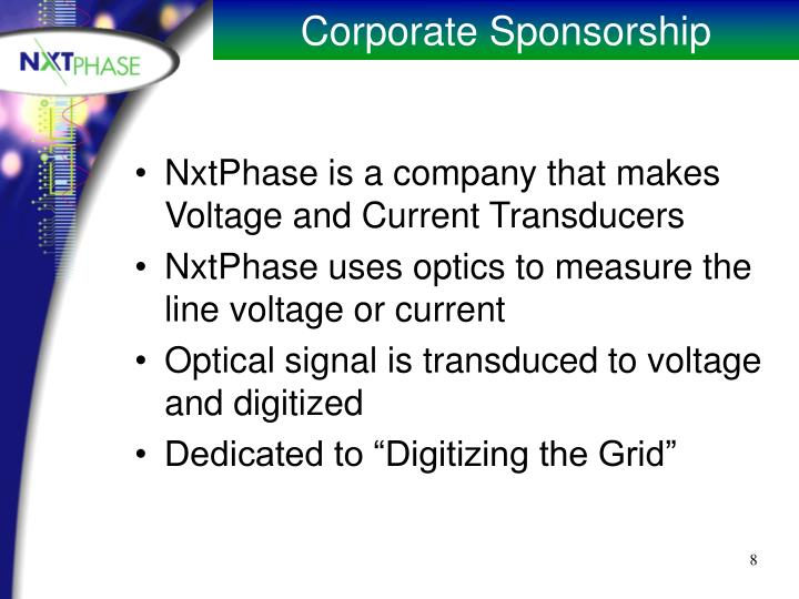 NxtPhase is a company that makes Voltage and Current Transducers