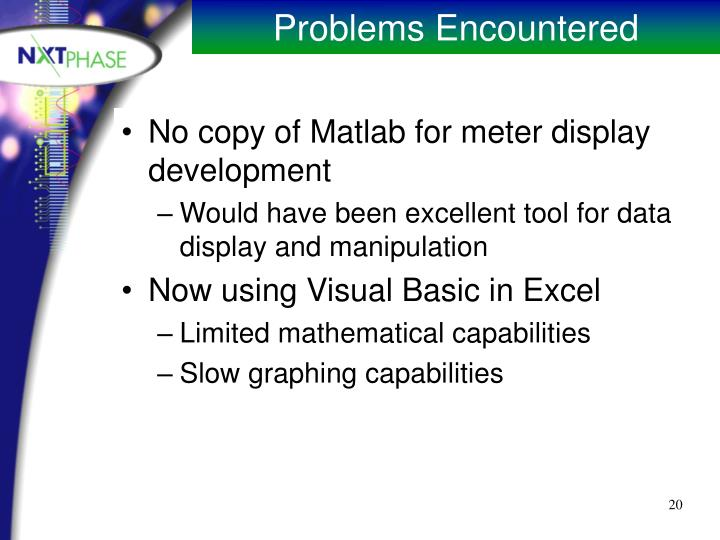 No copy of Matlab for meter display development
