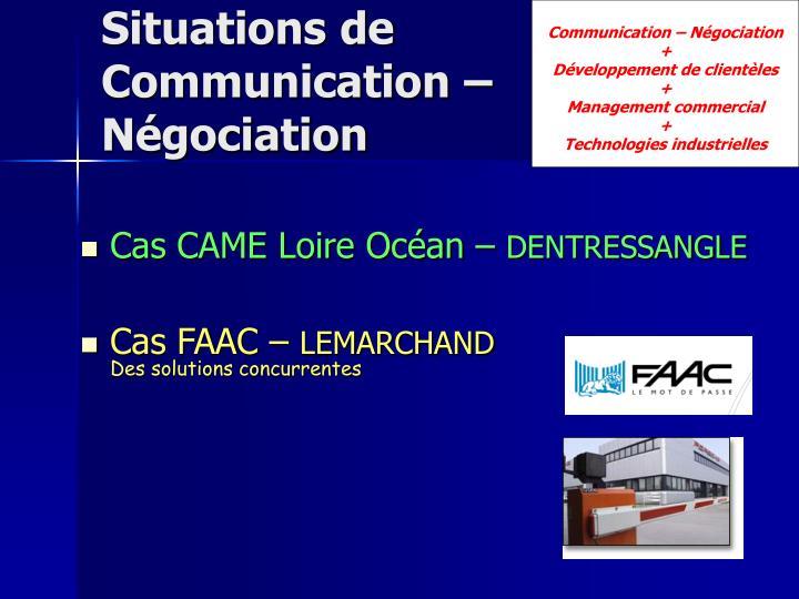 Communication – Négociation