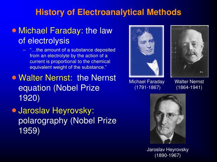 History of Electroanalytical Methods