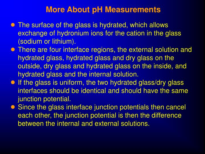 More About pH Measurements