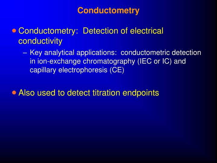 Conductometry