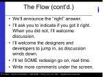 the flow cont d