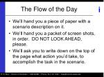 the flow of the day