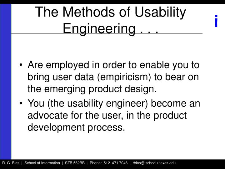 The Methods of Usability Engineering . . .