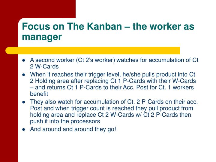 Focus on The Kanban – the worker as manager