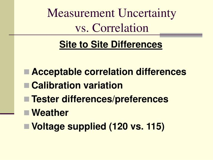 Site to Site Differences