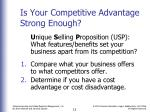 is your competitive advantage strong enough