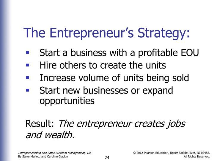 The Entrepreneur's Strategy: