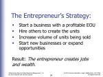 the entrepreneur s strategy