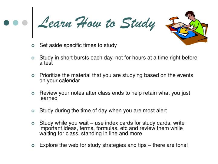 Learn How to Study