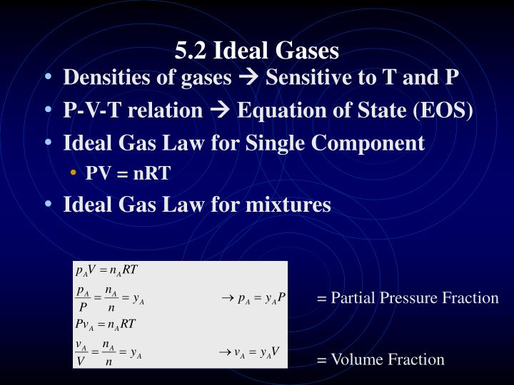 5 2 ideal gases