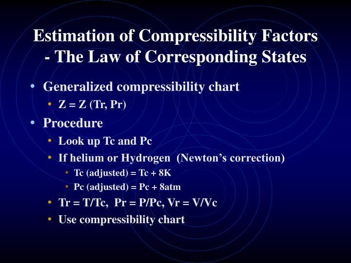 Estimation of Compressibility Factors