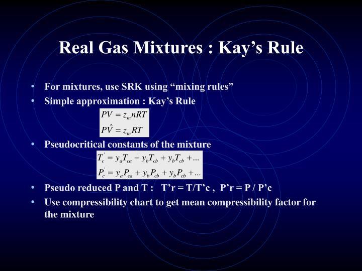Real Gas Mixtures : Kay's Rule