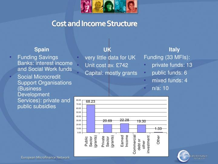 Cost and Income Structure
