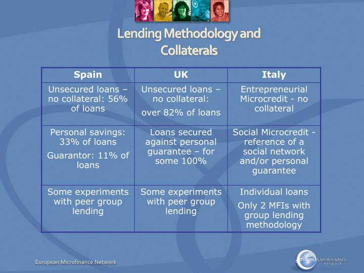 Lending Methodology and