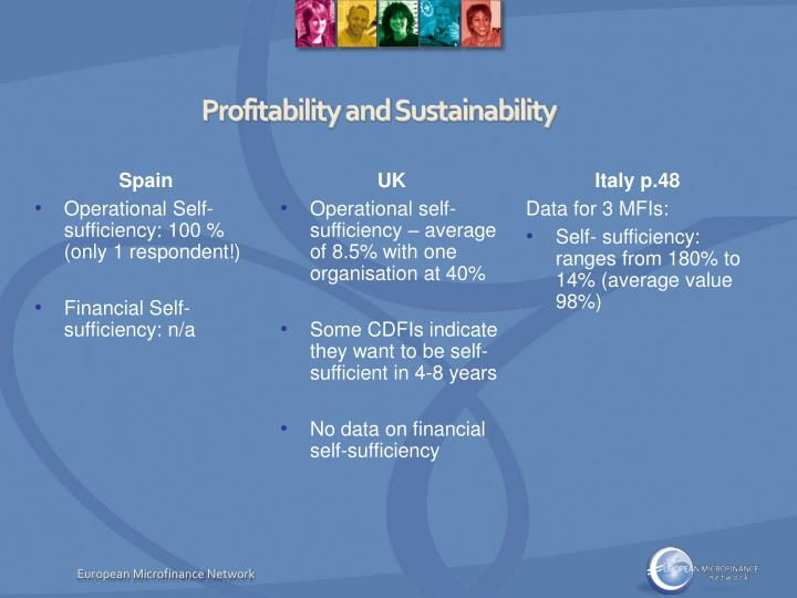 Profitability and Sustainability
