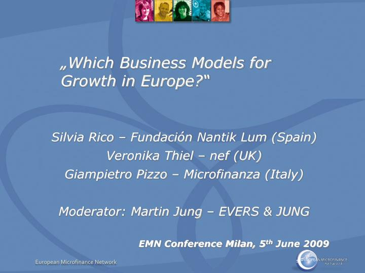 Which business models for growth in europe