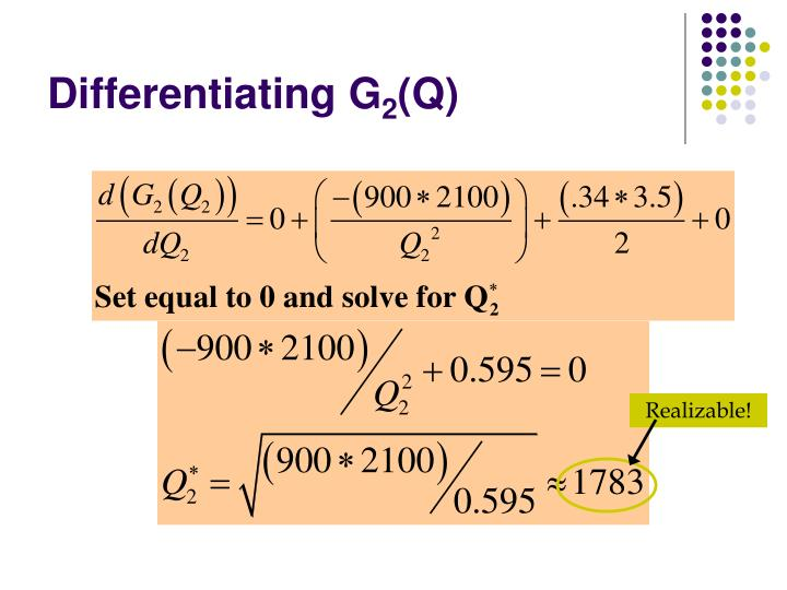 Differentiating G