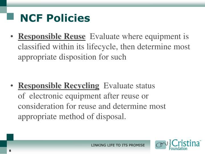 NCF Policies