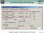 counting setup and cleanup1