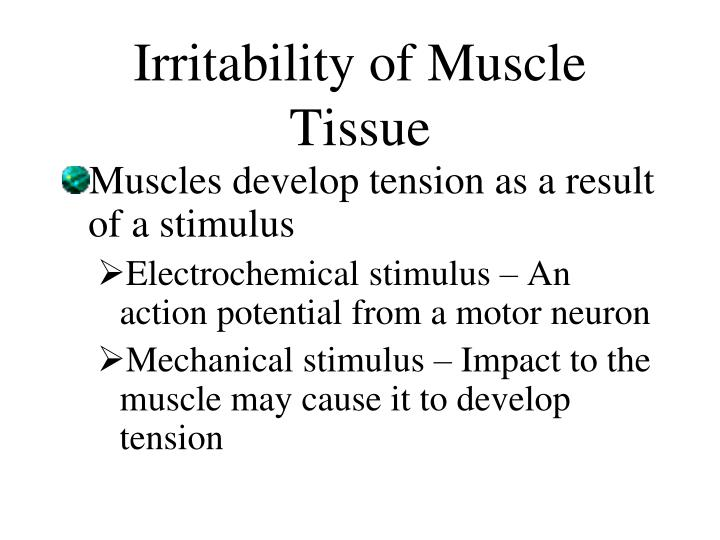 Irritability of Muscle Tissue