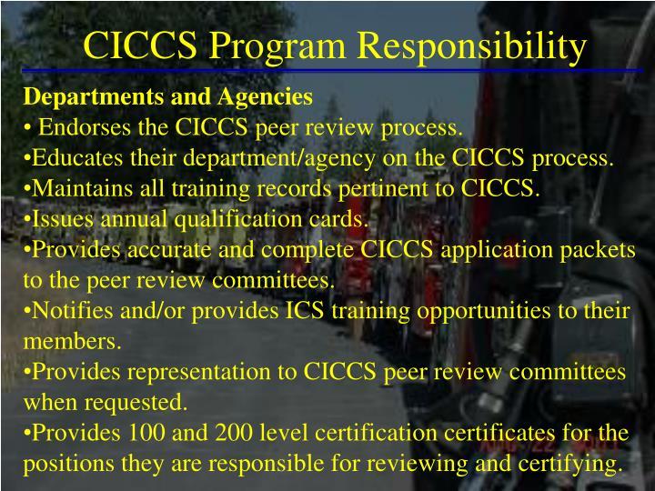 CICCS Program Responsibility