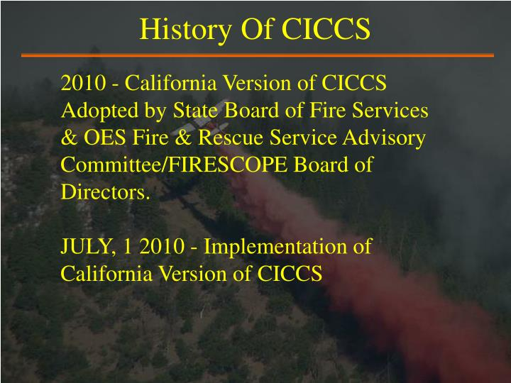 History Of CICCS