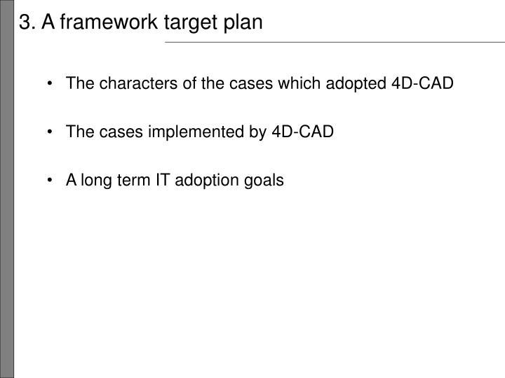 3. A framework target plan