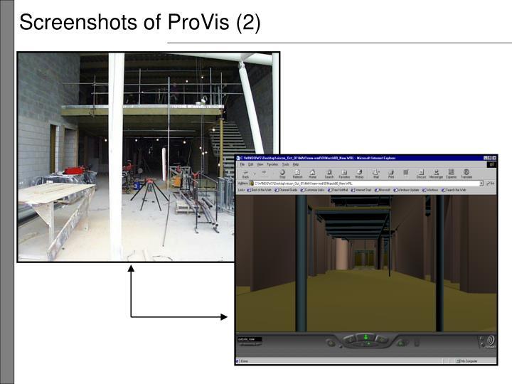Screenshots of ProVis (2)