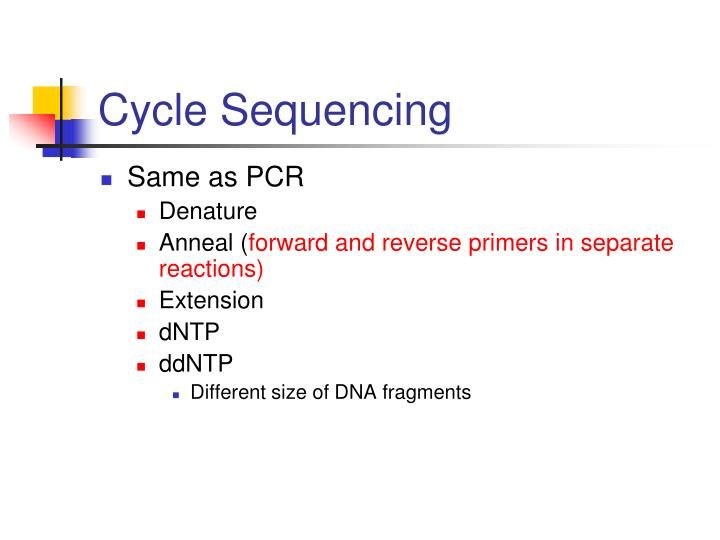 Cycle Sequencing