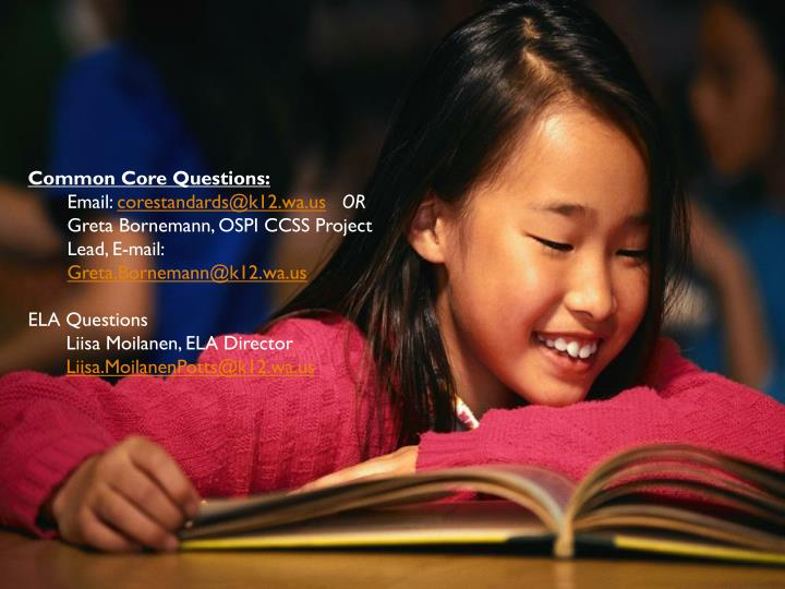 Common Core Questions: