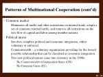 patterns of multinational cooperation cont d
