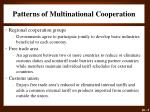 patterns of multinational cooperation